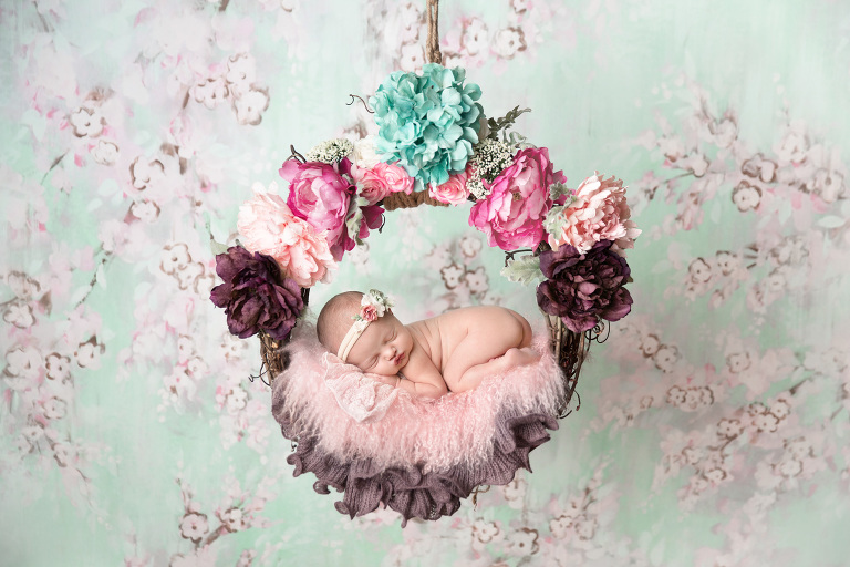 Temecula Newborn Photographer Gretchen Barros Photography mito floral wreath